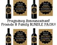 Baby Announcement Wine Bottle Label