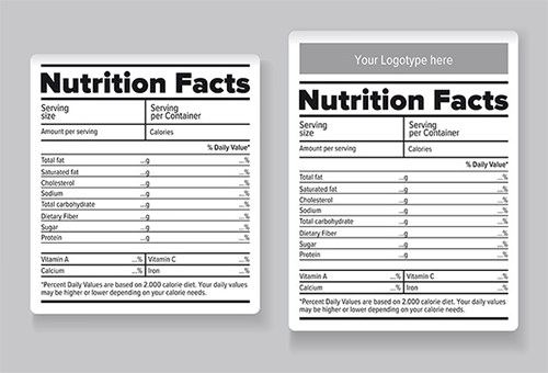 blank nutrition label template excel nutrition label template excel
