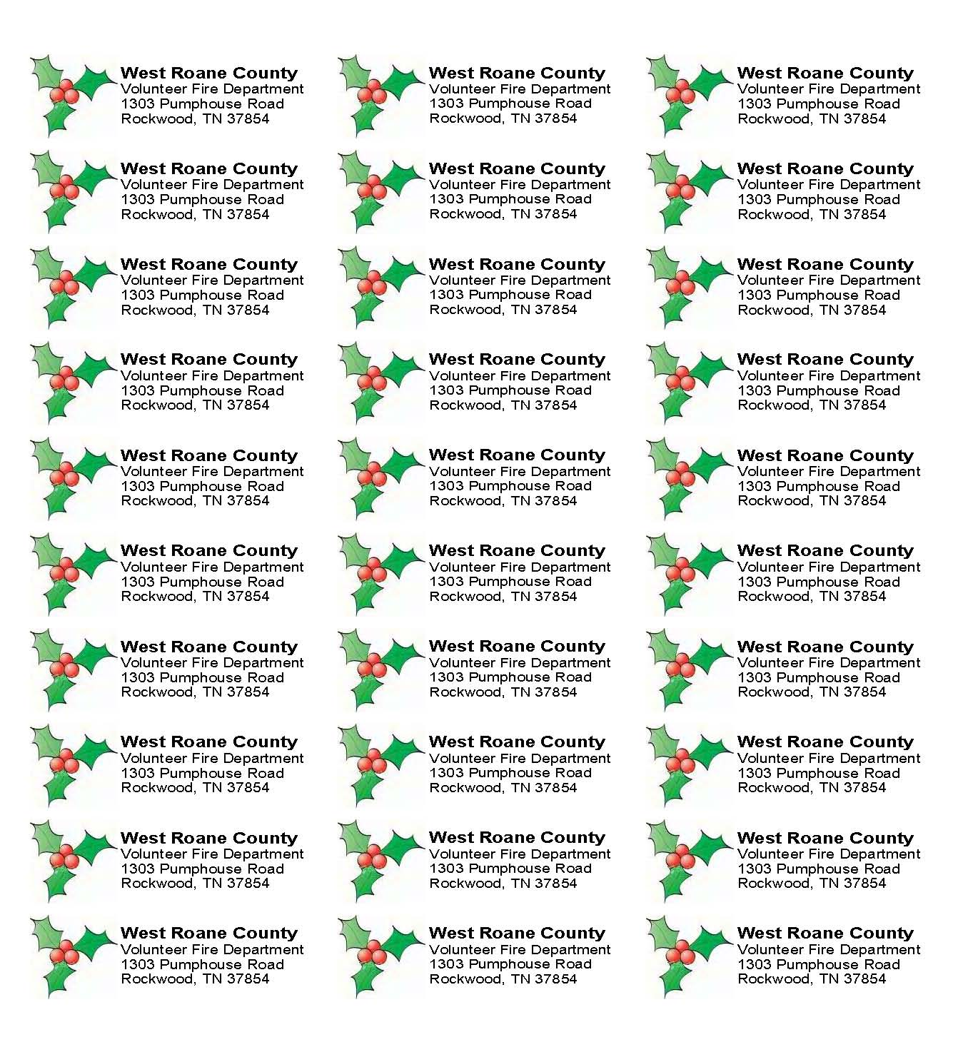 christmas address labels word template christmas tree address label