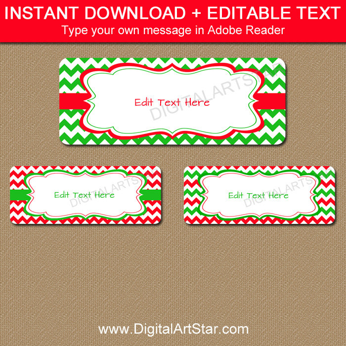 Christmas Labels Free Printable Templates Top Label Maker