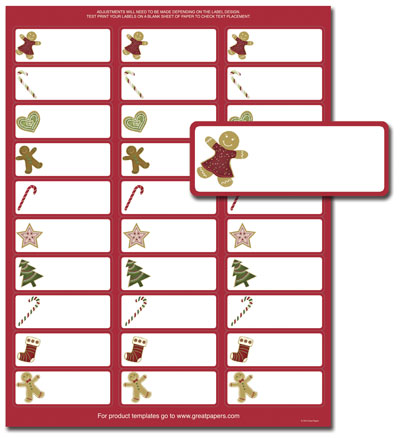 tags christmas return address labels template avery 5160