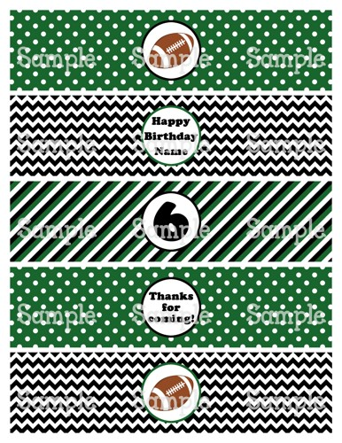Tags Football Themed Water Bottle Labels Free Printable
