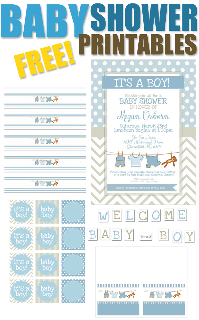 Free Printable Baby Shower Label Templates Baby Shower Free