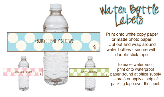 free printable baby shower label templates pink baby shower water