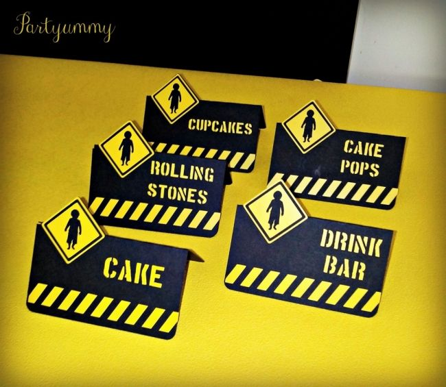 photo regarding Free Printable Construction Party Signs called free of charge printable framework get together food items labels