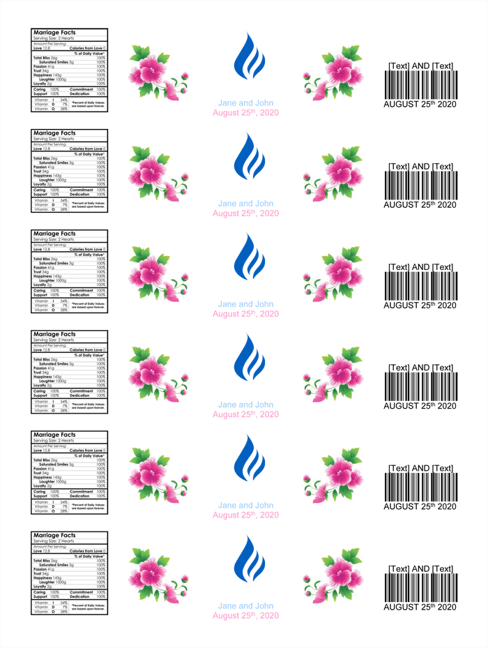 free printable label templates for word free water bottle label