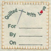 image regarding Printable Quilt Labels known as absolutely free quilt label embroidery models
