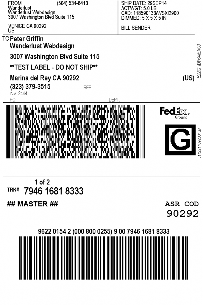 This is a picture of Gorgeous Print Shipping Label Free