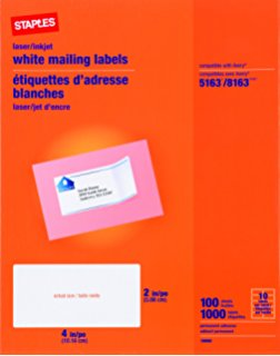 Staples White Shipping Labels - Top Label Maker