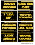 Star Wars Food Labels