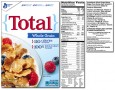 Total Cereal Nutrition Label