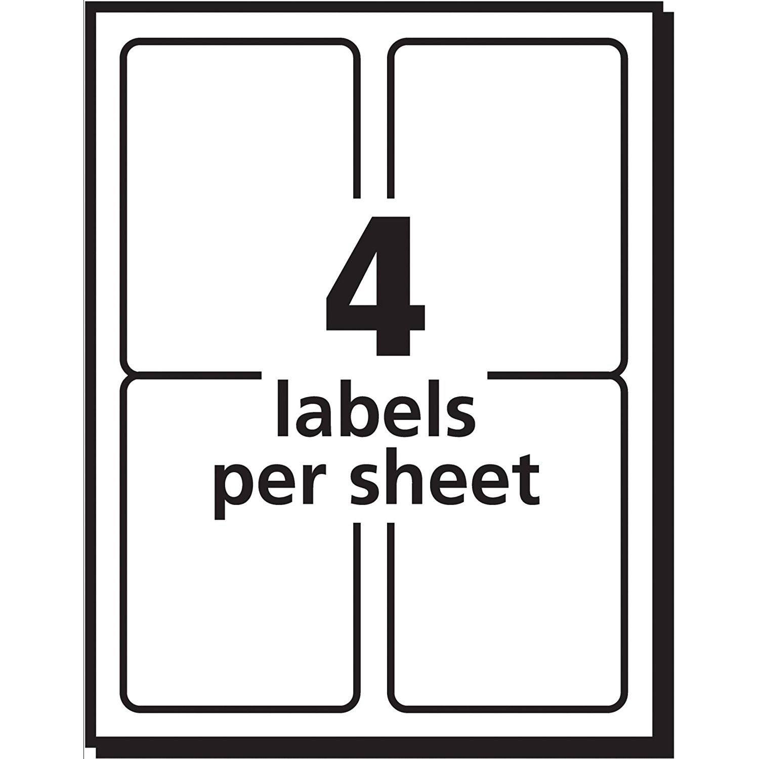 avery 4 to a page labels top label maker