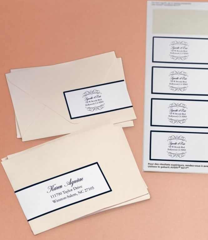 avery clear labels for wedding invitations clear script monogram