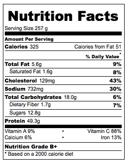 Chicken Nutrition Label Grilled Chicken Breast Strips John Soules