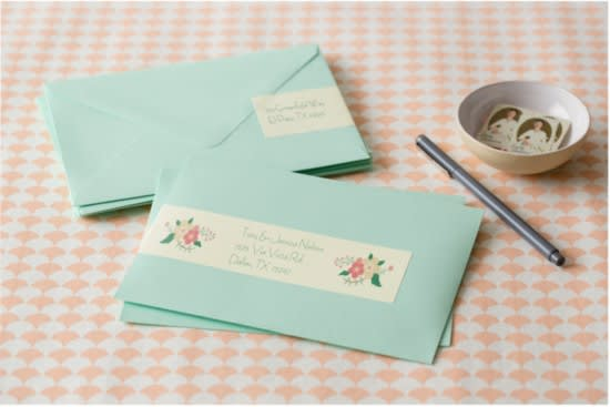 fancy address labels for wedding invitations create custom address