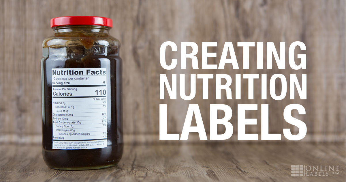 food label stickers australia creating nutrition labels