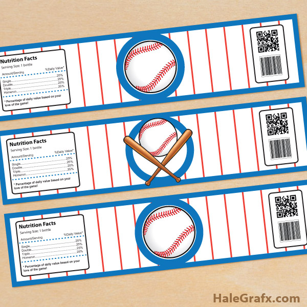 Tags Free Baseball Water Bottle Label Template Labels Printable