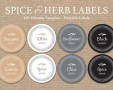 Free Editable Spice Jar Labels