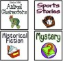 Free Genre Labels For Book Baskets