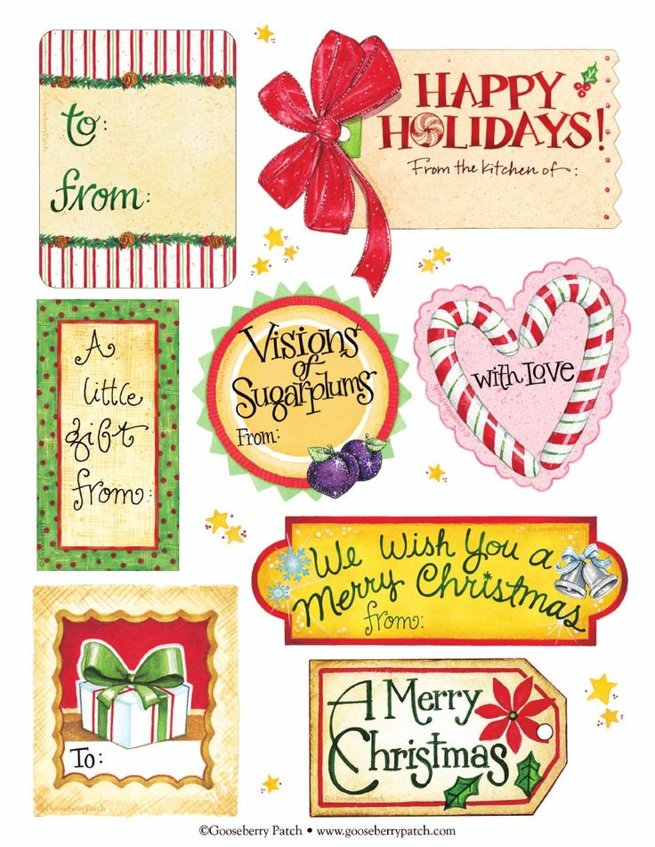 Images Of Christmas Labels 12 Days Of Christmas Tags 7 12 Top