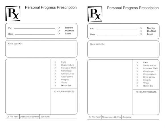 prescription bottle label template