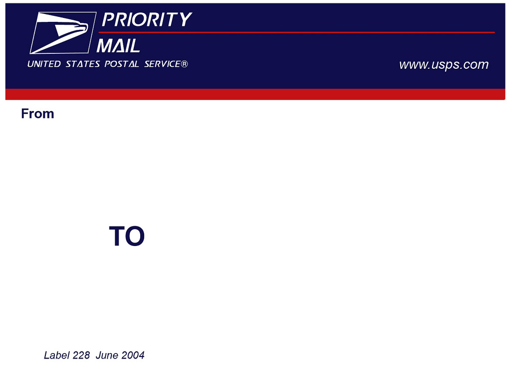 This is a picture of Eloquent Priority Mail Label Printing Template