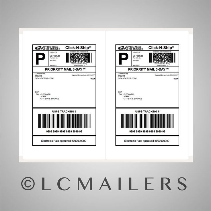 This is a picture of Exceptional Priority Mail Label Printing Template