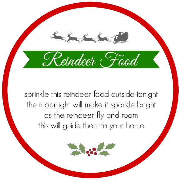 image about Reindeer Food Labels Printable named reindeer grime printable labels reindeer foods poem printable