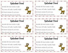 image relating to Printable Reindeer Food Tags titled Reindeer Foodstuff Labels Free of charge - Supreme Label Manufacturer