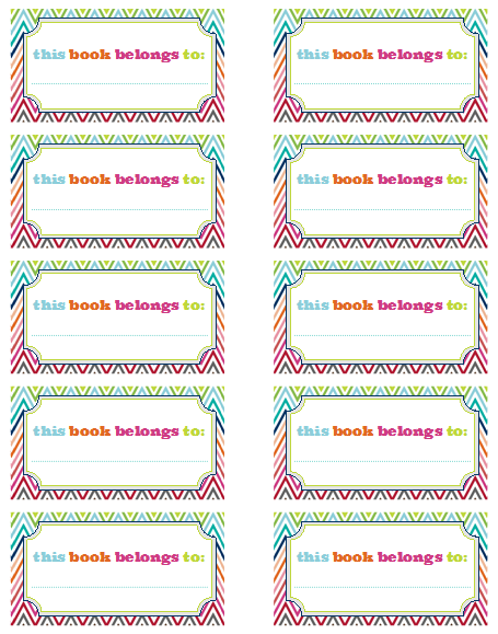 school book labels template free top label maker