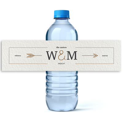 Water Bottle Labels With Picture Arrowinitialswaterbottlelabels 1