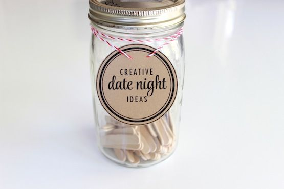 photo about Date Night Jar Printable called day night time jar printable label