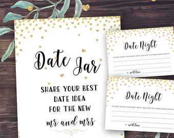 graphic about Date Night Jar Printable named day evening jar printable label img 16531 - Greatest Label Manufacturer