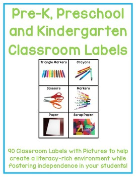 photo about Free Printable Classroom Labels for Preschoolers titled Kindergarten Clroom Labels - Greatest Label Producer
