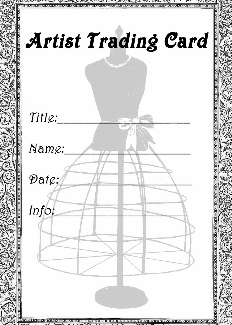 Printable Artist Trading Card Labels Atc Label